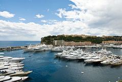 Monaco seaport scenery Royalty Free Stock Photo