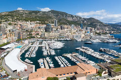 The Monaco Skyline and mountains Royalty Free Stock Photography