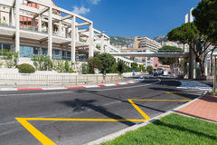 The Monaco Skyline and racetrack Royalty Free Stock Image