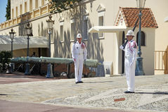 Monaco Soldiers Royalty Free Stock Photography