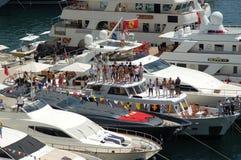 Monaco, spectators during the Grand Prix 2009 Stock Photos