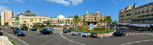 Monaco Square Casino - Panorama Stock Photos