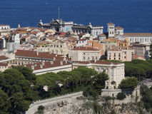 Monaco stadsöverblick, Monaco Arkivbilder