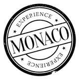 Monaco stamp rubber grunge Stock Photos