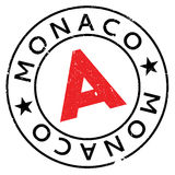 Monaco stamp rubber grunge Royalty Free Stock Images