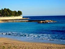 Monaco strand Fotografering för Bildbyråer