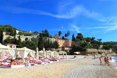 Monaco-Strand Lizenzfreies Stockfoto