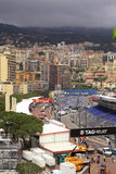 Monaco streets before the races of Formula 1 Grand Prix de Monac Royalty Free Stock Photos