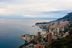 Monaco at Sunrise Royalty Free Stock Photos