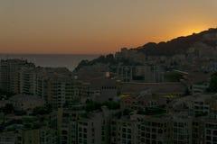 Monaco. Sunset on the hill of Monaco Stock Photo