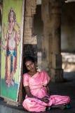 Monaco in tempio indiano Immagini Stock Libere da Diritti