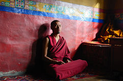 Monaco tibetano Fotografie Stock Libere da Diritti