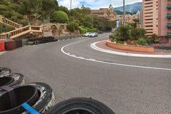 Monaco track formula 1 championship, Cote d'Azur Stock Image