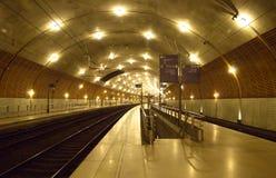 Monaco - Train station Stock Photo