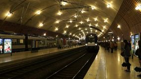 Monaco - Train station Monaco-Ville stock video footage