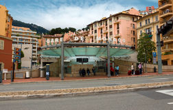 Monaco - Train station Royalty Free Stock Photos