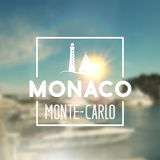 Monaco travel print Stock Photos