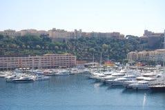 Monaco Trzymać na dystans, monte, Carlo -, marina, schronienie, dok, pojazd Zdjęcia Stock