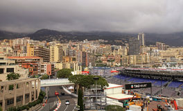 Monaco ulicy przed rasami formuła 1 Uroczysty Prix De Monac Zdjęcia Royalty Free