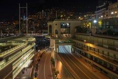 Monaco uliczny widok w nocy zdjęcie royalty free