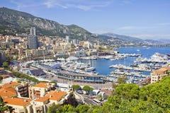 Monaco under formeln en period Arkivfoto
