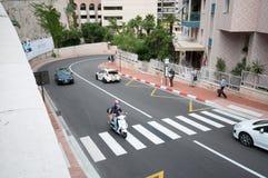 Monaco - väg av strömkretsen F1 Arkivbild