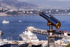 Monaco view. Binoculars view at Monaco, Monte Carlo Stock Photos