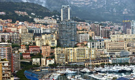 Monaco - View of Monte Carlo from the heights Stock Image
