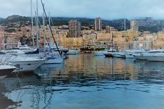 Monaco, view from the sea royalty free stock image