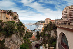 Monaco - View from the train station Monaco-Ville Royalty Free Stock Images