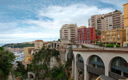 Monaco - View from the train station Monaco-Ville Stock Images