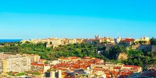 Monaco-ville, condamine, das Rocher und das Meer Stockbild