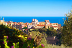 Monaco-Ville historical district surrounded by nature and the sea Stock Images