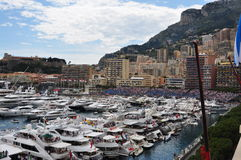 Monaco während des großartigen Prix 2010 Stockfotos
