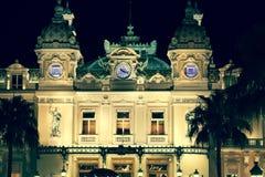 Monaco, Włochy, Sierpień 10, 2013: Kasyno w Monaco podobieństwo tła instalacji krajobrazu nocy zdjęcia stołu piękna użycia Obrazy Stock