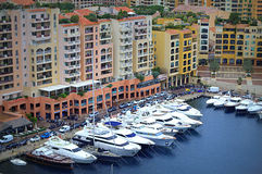 Monaco waterfront Royalty Free Stock Images