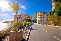 Monaco wschodni wejście od Francja na Princess gracja alei obrazy royalty free