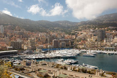 Monaco yacht harbor Royalty Free Stock Photo