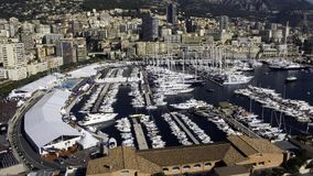 Monaco Yacht Show. Wide view of the Monaco Yacht Show 2006 Royalty Free Stock Photography