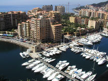 Monaco yachter Arkivbild