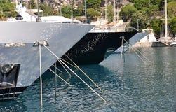Monaco yachtport royaltyfri fotografi