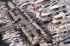 Monaco yachts Royalty Free Stock Image