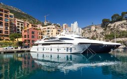 Monaco yachts Royalty Free Stock Images