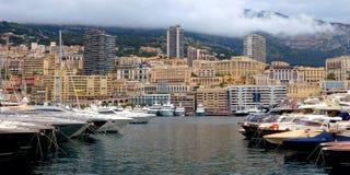 Monaco - Yachts in the port Hercules Stock Photo