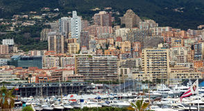 Monaco - Yachts in the port Hercules Royalty Free Stock Photos