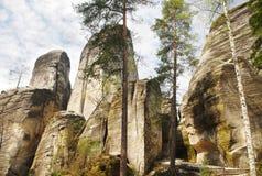 Monadnock rocks in Skalne Mesto Adrspach Czech Rep Royalty Free Stock Image