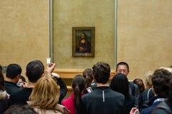 Monaen lisa på luftventilen arkivfoton