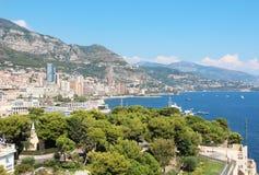 Monako. The Kingdom of Monaco on the Mediterranean sea Stock Image