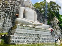 Monaragala,菩萨Kurunegala Samadhi雕象  库存照片