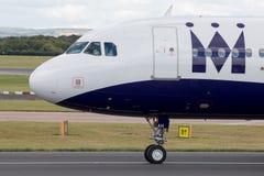 Monarca Airbus A320 Imagens de Stock
